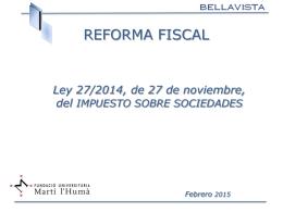 Reforma Impuesto de Sociedades 2015