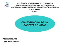 CARPETA DE NOTAS. - cipee
