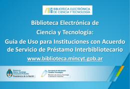 Guía de uso de la Biblioteca Electrónica para instituciones con