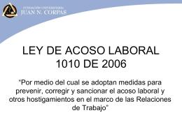 Acoso Laboral - Fundación Universitaria Juan N. Corpas