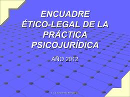 encuadre legal de la auditoría psicológica