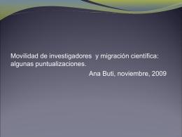 Movilidad de investigadores y migración científica