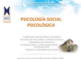 psicología social psicológica - Fundación Universitaria Luis Amigó