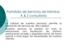 Portafolio de Servicios de Nomina A & Z consultoría