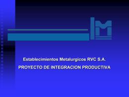 Proyectos de Inversión: RVC