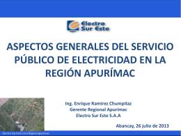 4.- Aspectos Generales del Servicio Público de