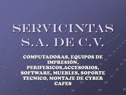 SERVICINTAS S.A. DE C.V.