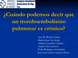 ¿Cuándo podemos decir que un tromboembolismo pulmonar