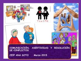 Comunicación, asertividad y resolución de conflictos