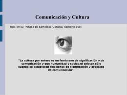 Comunicacion y cultura - Periodismo Ucsc Seccion I