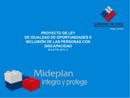 Proyecto de ley para la igualdad de oportunidades e inclusión