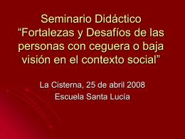 """Seminario Didáctico """"Fortalezas y Desafíos de las personas con"""