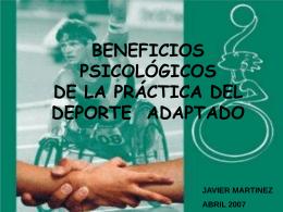 beneficios psicológicos de la práctica de deporte adaptado.