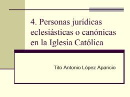 Personas jurídicas canónicas