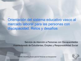 D. Kepa González. Servicio Atención Personas con