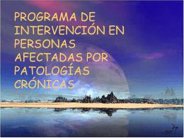 programa de intervención en personas afectadas por patologías
