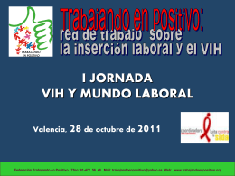 I JORNADA SOBRE VIH Y MUNDO LABORAL de CALCSICOVA