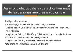 Derechos personas mayores en Colombia.