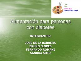 Alimentación para personas con diabetes - alimentacion