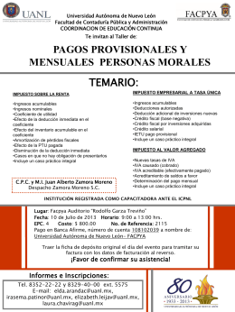 Taller de Pagos Provisionales Personas Morales