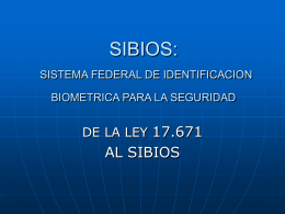 SIBIOS - Biometría