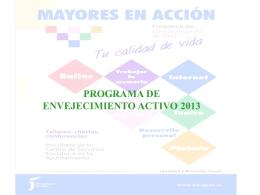 Programa Envejecimiento Activo 2013