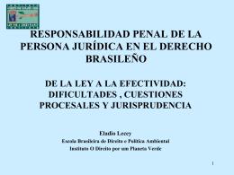 RESPONSABILIDADE PENAL DA PESSOA JURÍDICA