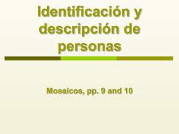 Identificación y descripción de personas