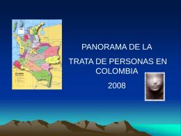 Panorama del trato de personas en Colombia