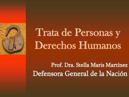 Trata de personas y Derechos Humanos
