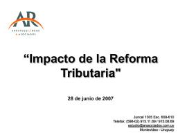 """""""Impacto del Impuesto a la Renta de las Personas"""
