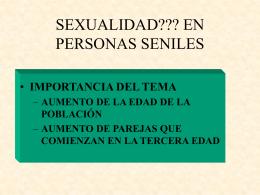 SEXUALIDAD EN PERSONAS SENILES
