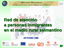 Atención a personas inmigrantes en el medio rural de Salamanca