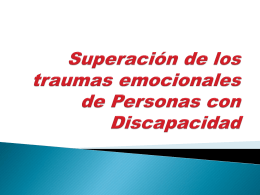 superación traumas en personas con discapacidad