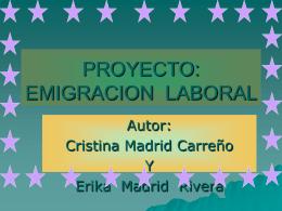 PROYECTO: EMIGRACION LABORAL