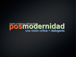 Posmodernidad- Una visión reformada