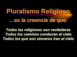 Pluralismo Religioso