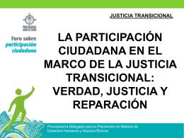 JUSTICIA TRANSICIONAL - Procuraduría General de la Nación