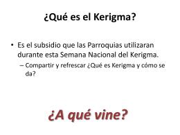 ¿Qué es el Kerigma? - Centro Nacional de Catequesis