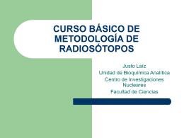 curso básico de metodología de radiosótopos