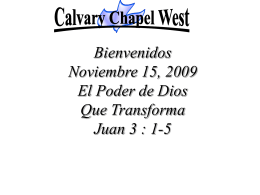 John 3: 1-5 - Calvary Chapel West