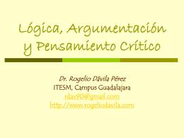 Lógica Proposicional - Página oficial del Doctor Rogelio Davila Pérez