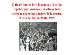El fin de Guerra Civil Española y el exilio