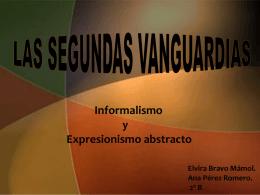Las Segundas Vanguardias, Informalismo y Expresionismo Abstracto
