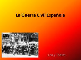 La guerra civil en Espana