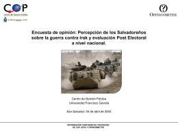 Percepción de los Salvadoreños Sobre la Guerra Contra Irak y