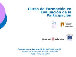 Evaluación Formació en Avaluació de la Participació