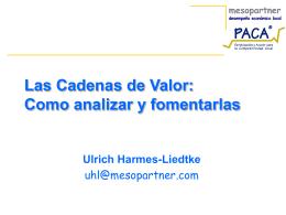 Las Cadenas de Valor - PACA