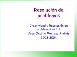 Creatividad y Resolución de problemas