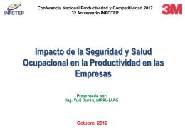 Conferencia Nacional de Productividad y Competitividad 2012